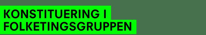 KONSTITUERING I FOLKETINGSGRUPPEN